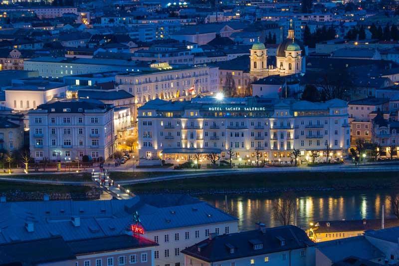 Hotel Sacher in Salzburg Österreich